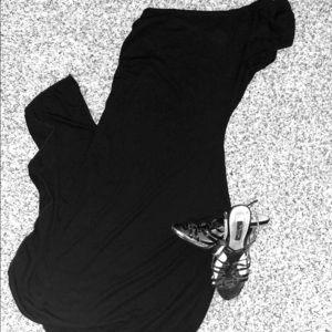 Dresses & Skirts - LBD- One shoulder w/ ruffle sleeve